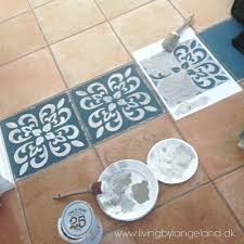excellent how to paint bathroom tile floors chalk decorative paint used to enhance tile floors project excellent how to paint bathroom tile floors