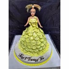 Buy Yellow Petals Barbie Cake Dc12 Online In Hyderabad Order