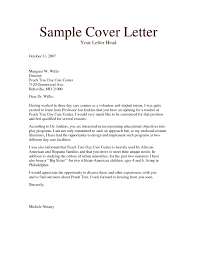 Daycare Assistant Cover Letter Cover Letter For Resume Child Care