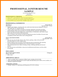 Janitor Resume Custodian Duties Skills Objective Examples Sample
