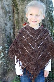 Girls Crochet Poncho Pattern