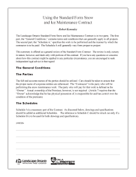 Fillable Online Standard Form Snow Contract All Indd