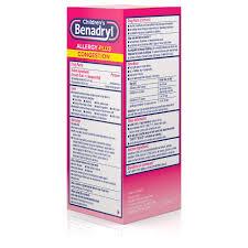Benadryl D Dosage Chart Childrens Benadryl Allergy Plus Congestion Liquid Made