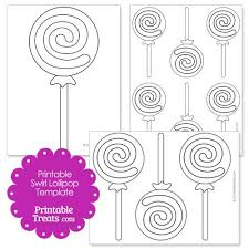Swirls Templates Printable Swirl Lollipop Template Lollipop Craft Swirl