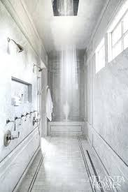 multiple shower heads long walk in shower for two with multiple shower heads multiple shower head