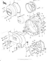 Kawasaki motorcycle 1978 oem parts diagram for engine covers partzilla