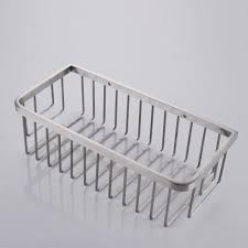 kes bathroom shower caddy rectangular extra deep sus304 stainless steel wall mount brushed finish a2125 2