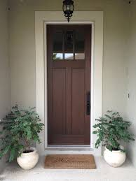 Craftsman Style Front Door With A Walnut Stain Decorating Ideas - Exterior door stain