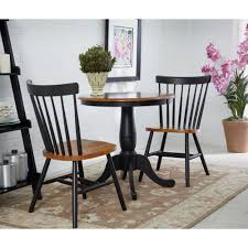international concepts black and cherry skirted dining table