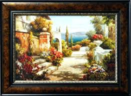 framed wall art style y canvas tuscan pictures