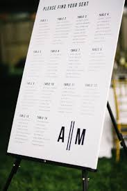 Modern Wedding Seating Chart A Fresh Modern Wedding At Home In Michigan Photographed By