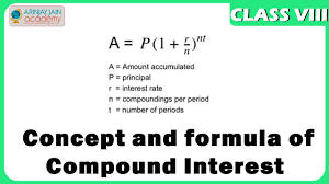 concept and formula compund interest maths class 8 viii isce cbse you
