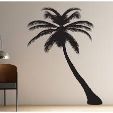 palm tree silhouette wall sticker