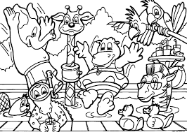 Free Coloring Pages Jungle Animals With