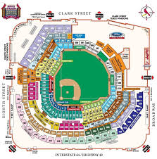 Park Seat Numbers Chart Images Online For Busch Stadium