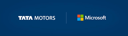 Tata Motors And Microsoft Connected Car Experience Logos Autobics