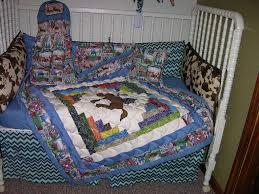 baby boy crib bedding set in blue
