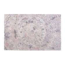 damask motif hand tufted pink cream rug 150 x 240 cm medium by size rugs