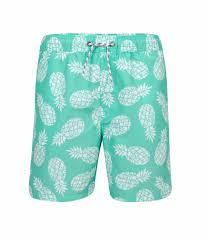 Snapper Rock Size Chart Swimming Trunks Boy Pineapple Mint Green