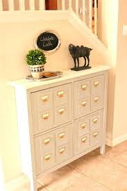 hallway console cabinet. Thin Hallway Cabinet Narrow Faux Library Card Catalog Console Hacked From Shoe Pictures With . W