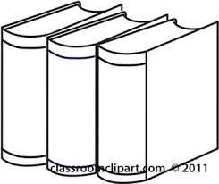 350x294 clipart outline of three books