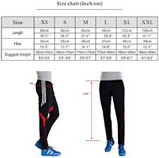 Mens Pants Xl Size Chart Mens Athletic Soccer Training Pants Fitness Sweatpant Please Order A Size Up