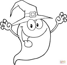 Glimlachend Halloween Spook Kleurplaat Gratis Kleurplaten Printen
