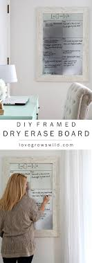 DIY Framed Dry Erase Board | Diy frame, Erase board and Organizing
