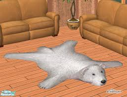 faux polar bear skin rug