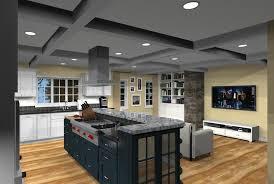 floor open plan kitchen idea on your home open kitchen design floor plans layout