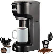 More than 1000 keurig k cup for ground coffee at pleasant prices up to 37 usd fast and free worldwide shipping! Amazon Com Single Serve K Cup Coffee Maker For Pods And Ground Coffee Permanent Filter 6 14oz Reservoir One Touch Control Button Coffee Machine Black Kitchen Dining