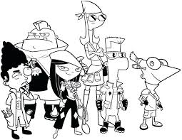 Phineas And Ferb Coloring Pages Free