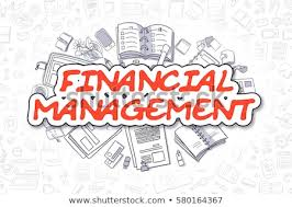 Finnancial Management Red Word Financial Management Business Concept Stock Illustration