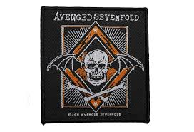 official band merch avenged sevenfold redux woven patchr