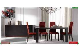 glass wenge open dining room furniture esf inessa table with ada chairs dining room furniture modern dining sets