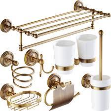 Best Bath Decor bathroom hardware accessories : Antique Brass Bathroom Accessories Carved Bathroom Hardware Set ...