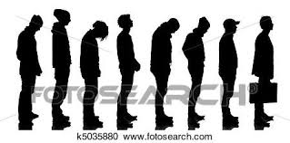 waiting in line.  Line Silhouette Of People Waiting In Line Isolated On White Background On Waiting In Line S