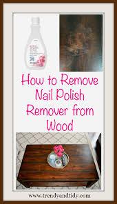 nail polish remover off a wood table