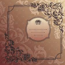 decorative vintage frame with ornamental magnificent corners vector image vector artwork of borders and frames to zoom