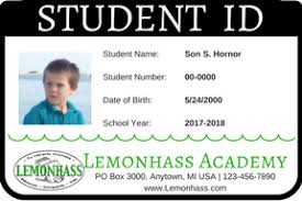 School Id Template How To Make Student Id Cards Free Printable Paradise Praises