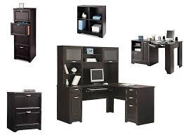 picture of realspace magellan collection 2 drawer lateral file cabinet 30 h alteza espresso l shaped desk