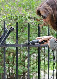 how to paint wrought iron fence 5 2