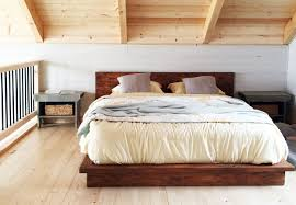 ... Platform Queen Bed Frame Japanese Platform Bed Low Ceiling Bedroom  Platform Wooden Messy Blanket