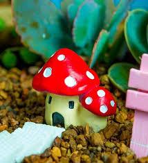 wonderful 2 piece red mushrooms by