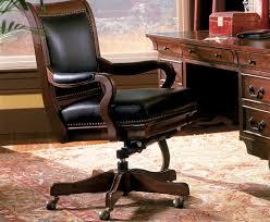 Wood Leather Desk Chair Sevenstonesinc Brown Leather Desk Chair58