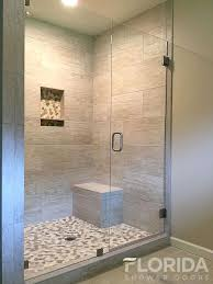 shower remodel glass tiles. Plain Shower 38 Inline Glass Shower Door And Panel Frameless With Clamps Pebble Tile   For Remodel Tiles O