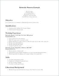 Server Resume Objective Bartender Resume Objective Bartender Resume