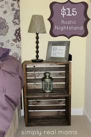 wood crate furniture diy. DIY $15 Rustic Nightstand. Gather Up Two Of Wooden Crates And You Can Turn Them Wood Crate Furniture Diy
