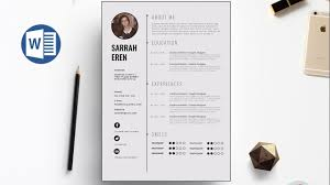 Clean Resume Template Clean Cv Template Design In Microsoft Word