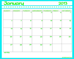 Monthly Calendar 2013 2013 Printable Calendar Ruminations And Reckonings